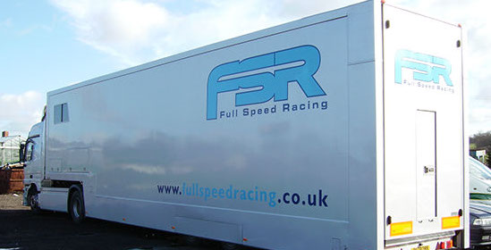 Car transporter fully sign written for FSR.